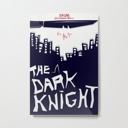 The Dark Knight Poster (Saul Bass Style) Metal Print