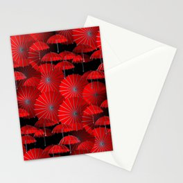 just a crazy umbrella pattern -1- Stationery Cards