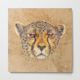 Swirly Cheetah  Metal Print