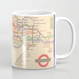 Vintage London Underground Map Coffee Mug