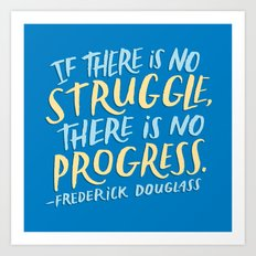 Frederick Douglass on Progress Art Print