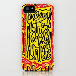 Laberinto red yellow iPhone Case