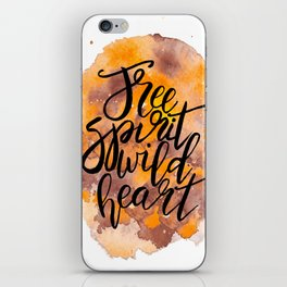 Free Spirit, Wild Heart Watercolour iPhone Skin