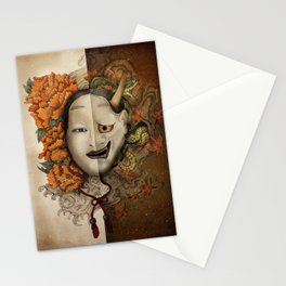 noh yin and yang Stationery Cards