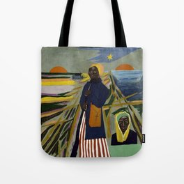 African American Masterpiece 'Experience America Harriet Tubman' by William Johnson Tote Bag