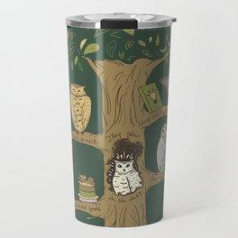 Never Trust an Owl Travel Mug