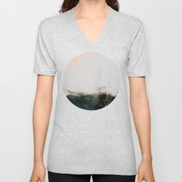 abstract smoke wall painting Unisex V-Neck