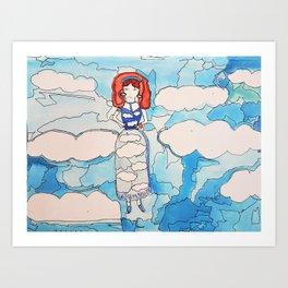 Sky Girl Art Print