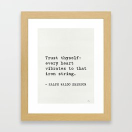 THE BEST RALPH WALDO EMERSON EVER quotes Framed Art Print