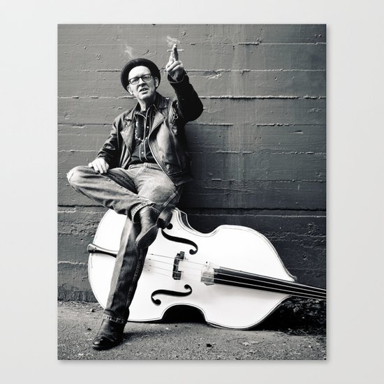 Rebel on  bass Canvas Print