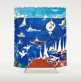 The Marina, Southport, AUSTRALIA        by Kay Lipton Shower Curtain