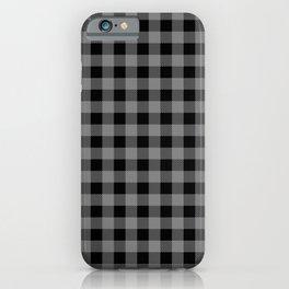 Plaid (black/gray) iPhone Case