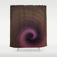 fibonacci Shower Curtains featuring Fibonacci  by Erica Chase
