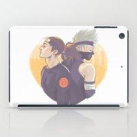 kakashi iPad Cases featuring Yellow heart by Aleksandra Chabros aka Adelaida