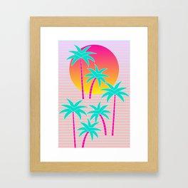 Hello Miami Sunset Framed Art Print