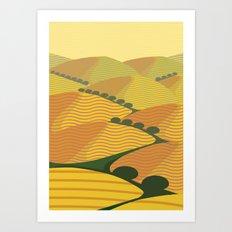 Baja California Coastal Hills Art Print