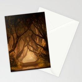 Sunny morning at Dark Hedges Stationery Cards