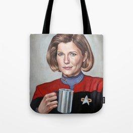 Captain Janeway - Portrait Painting Tote Bag