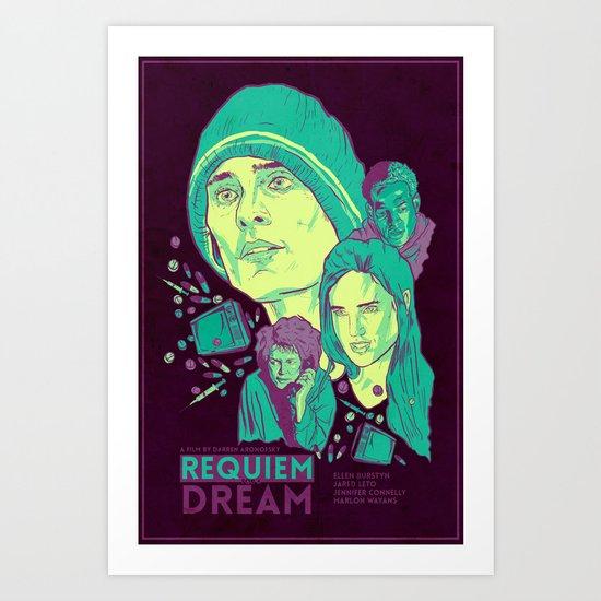 Requiem For A Dream Art Print by RJ Artworks | Society6