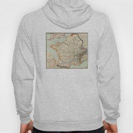 Vintage Map of France (1887) Hoody