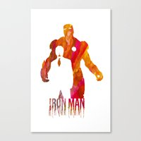 iron man Canvas Prints featuring Iron Man by Jon Hernandez