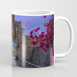 The fortress wall  Rhodes, Greece Coffee Mug