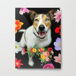 Harry Floral Love  Metal Print