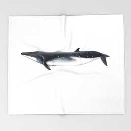 Bryde´s whale Throw Blanket