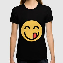 Smiley Face   Tongue Licking Happy Smile T-shirt