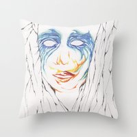artpop Throw Pillows featuring ARTPOP by Alex Rocha