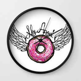 Doughnut Angel Wall Clock