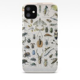 Adolphe Millot- Vintage Insect Print iPhone Case