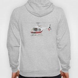 White and Red Helicopter Hoody