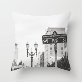 Old Town District Portland Throw Pillow