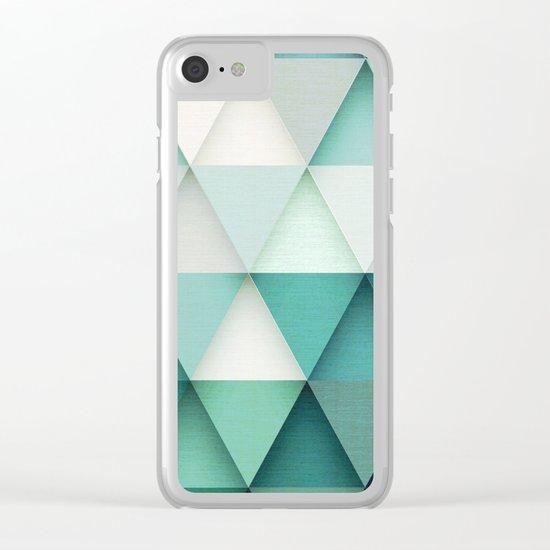 TRIANGULAR II Clear iPhone Case