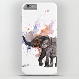 Dancing Elephant Painting iPhone Case