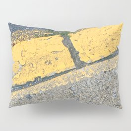 Blue Water Yellow Line Pillow Sham