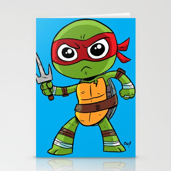 TMNT Raphael Stationery Cards