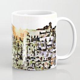 Sassi di Matera: view with sun Coffee Mug