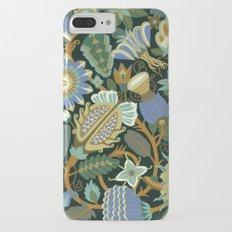 Flower Fantasy in blue Slim Case iPhone 7 Plus