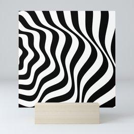 Op Art Waves B&W Mini Art Print
