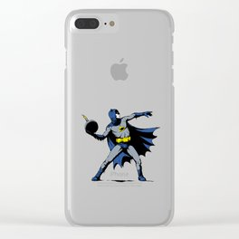 Bat Throwing Bomb Clear iPhone Case