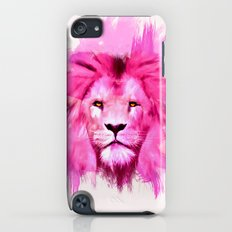 A pink lion looked at me iPod touch Slim Case