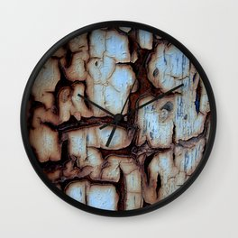 Rust and paint abstract Wall Clock