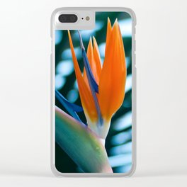 CORAL Bird of Paradise Clear iPhone Case