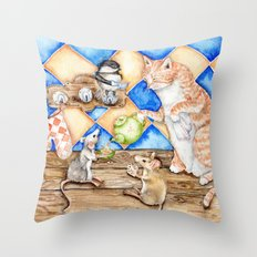 Zoe's Tea Party Throw Pillow
