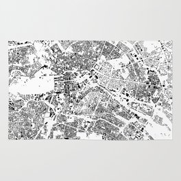 Berlin Map Schwarzplan Only Buildings Rug