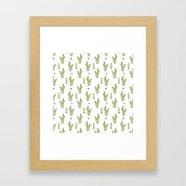 Crayon - Cactus Framed Art Print