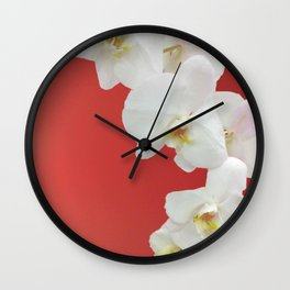 Watermelon Orchid Wall Clock