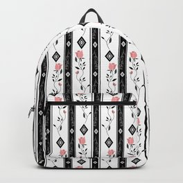 Retro pattern. Roses. Backpack